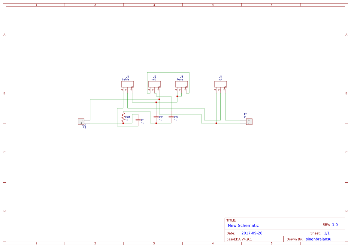 Equalizer 3 Band Search Easyeda Schematic Design Passive Eq