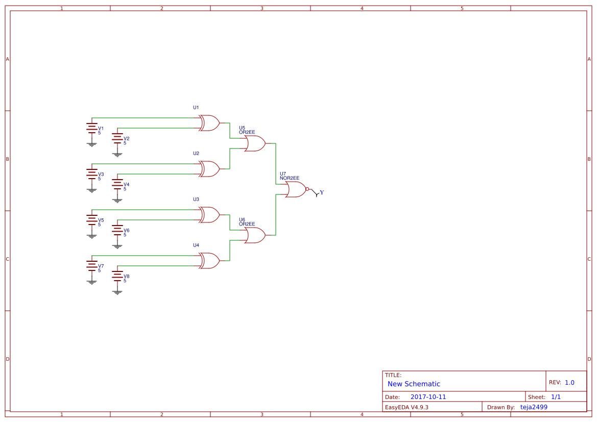 4 Bit2bbinary2badder Search Easyeda Logic Diagram For Bit Comparator