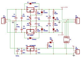 A Positive and Negative Variable Voltage Regulator Schematic