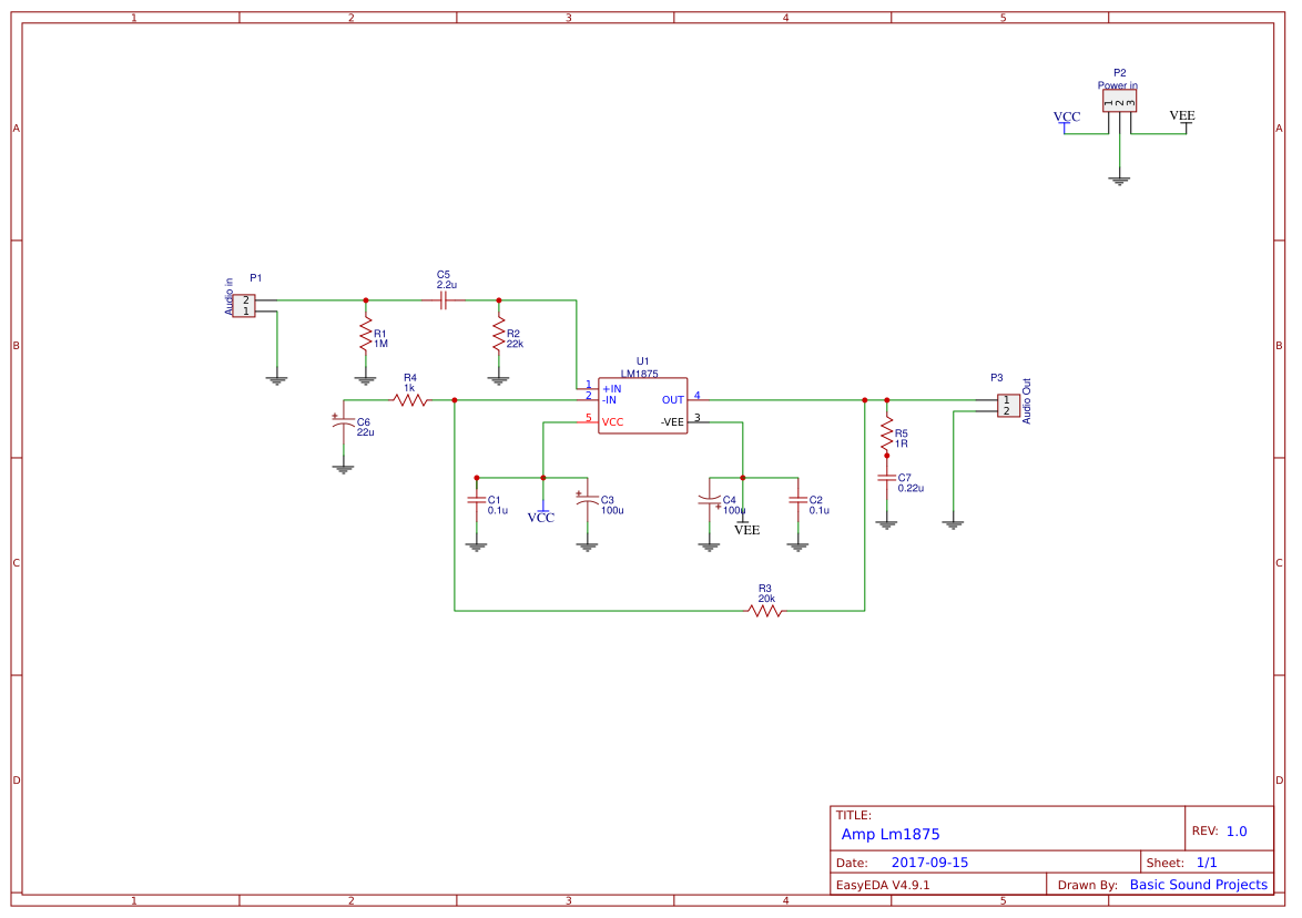 Lm1875 Amplifier Circuit Search Easyeda 20w Audio Using Ampmon