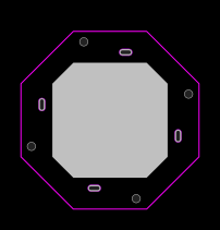 Arbitrary PCB shape with arbitrary hole