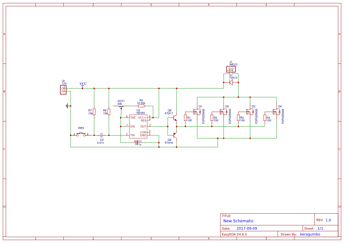 Explore Easyeda In Astable Mode Here Is Thecomplete Circuit Diagram For The Setup