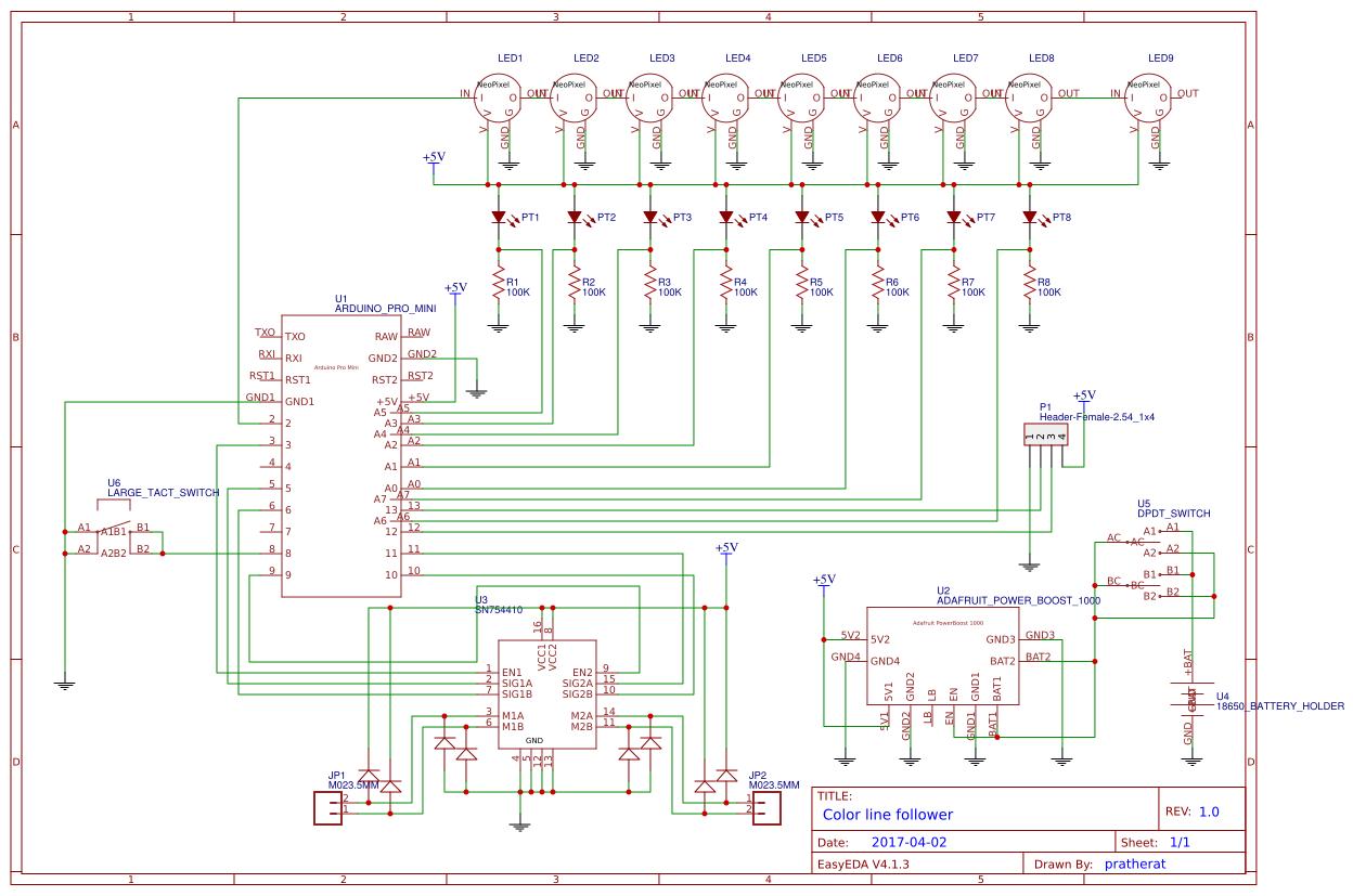 Line Follower Sensor Search Easyeda Analoglinefollowercircuitjpg Default Thumb