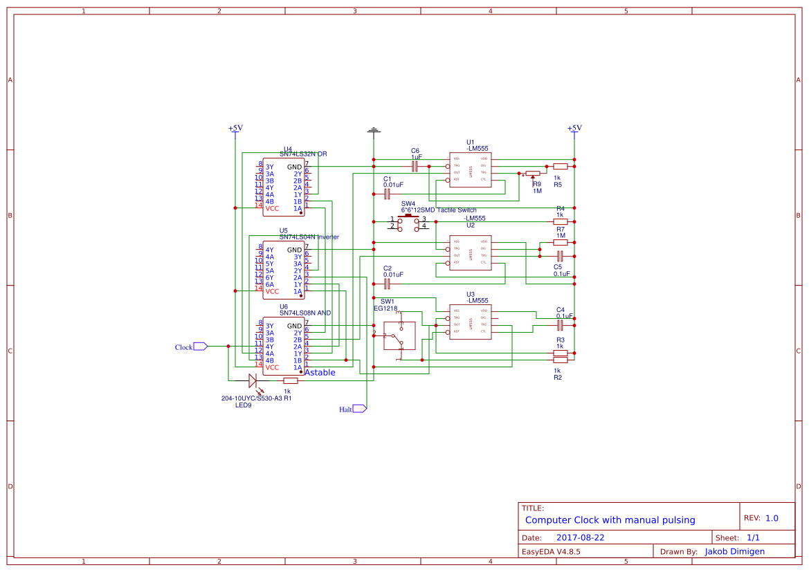 Explore Easyeda 555 Circuitjpg Ben Eater 8 Bit Computer With Modifications