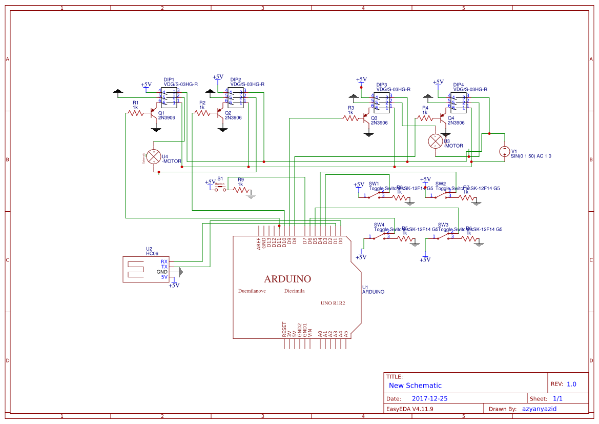 Controlling 2 motor power window with 4-Channel Relay Module via Bluetooth