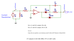 Convert CT Output To DC