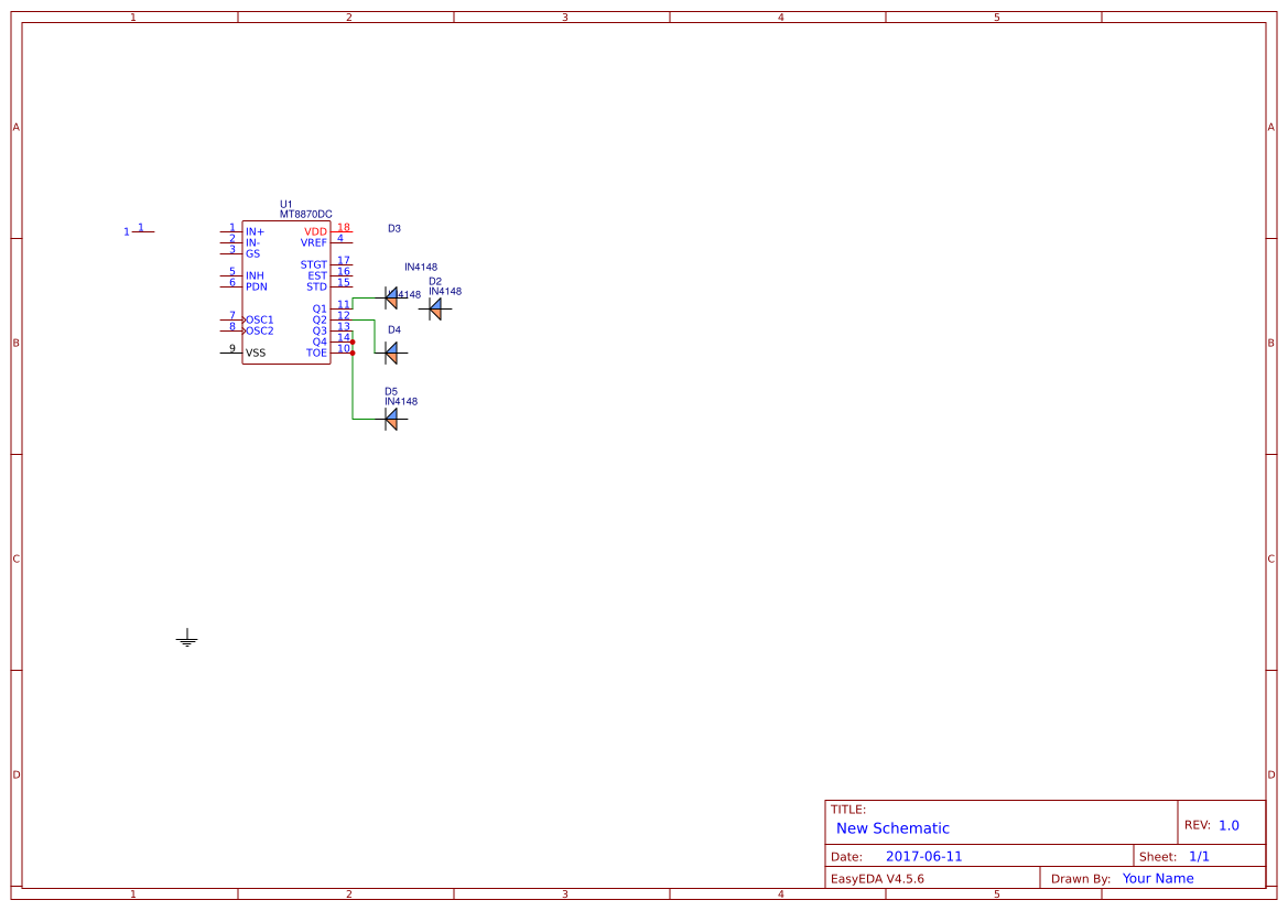 mt8870+dtmf+decoder - Search - EasyEDA