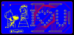 Design a romantic PCB with flash LED
