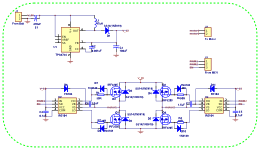H-Bridge Driver Circuit with IR2104 and Microcontroller