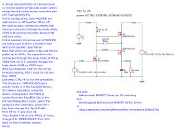 High Side Bidirectional Blocking Pmosfet Switch Easyeda