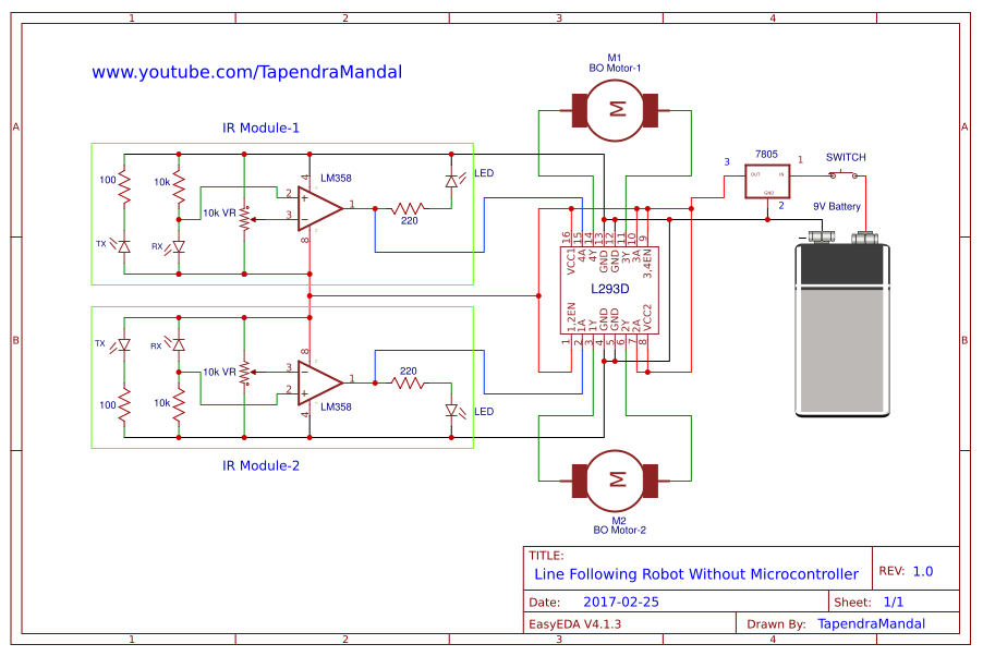 Line Follower Circuit Diagram Without Microcontroller Search For