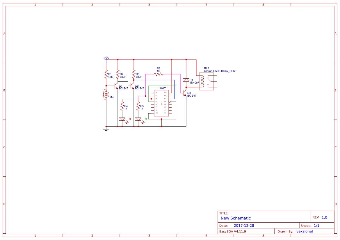 Circuit Amplifier Simple Search Easyeda 20 Watt Stereo Audio Using Tda2005 Diagram 4017 Clap