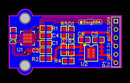 Six axis acceleration sensor module
