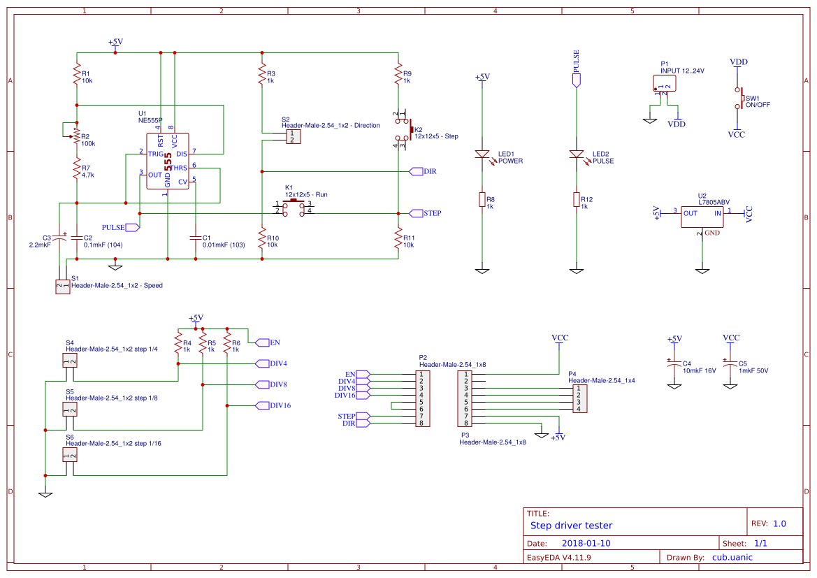Explore Easyeda Rj45 Network Cable Tester Circuit Schematic
