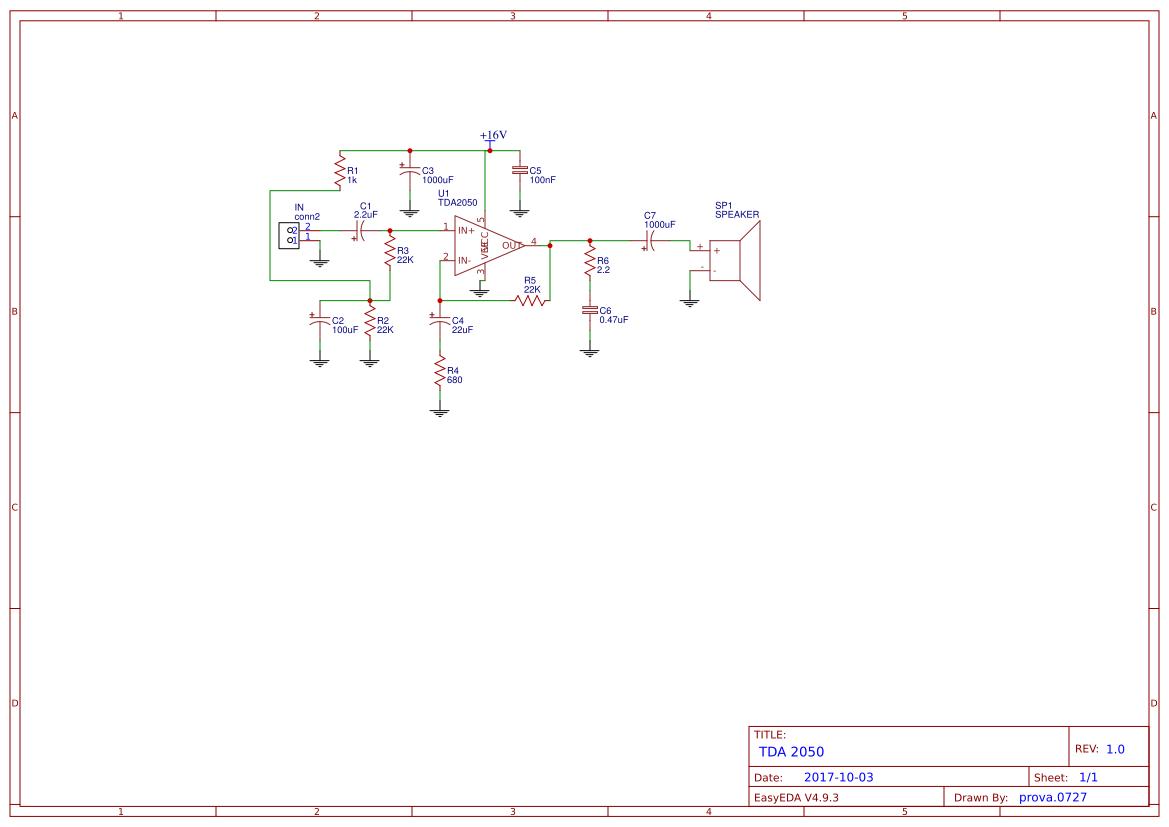 tda+2050+amplifier - Search - EasyEDA