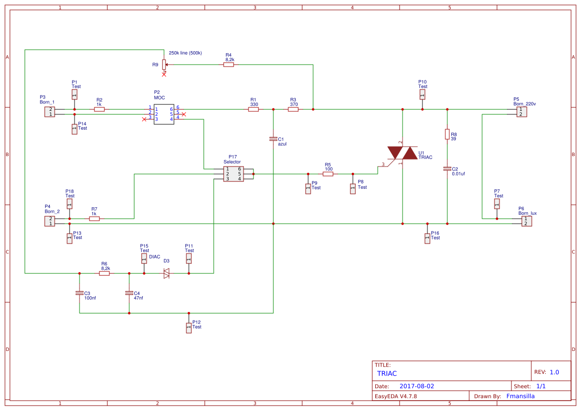 Triac Btb16 Search Easyeda Circuits Projects 10 Default Thumb