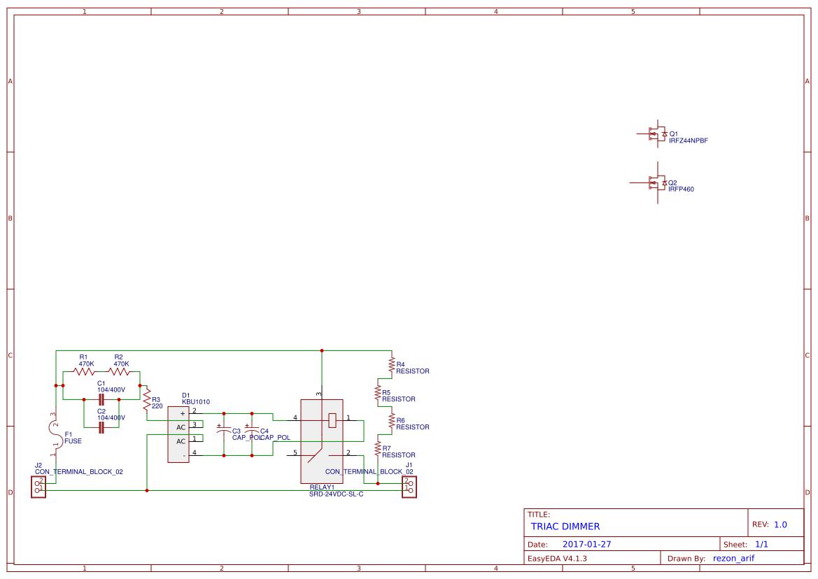 Triac Btb16 Search Easyeda Circuits Projects 10