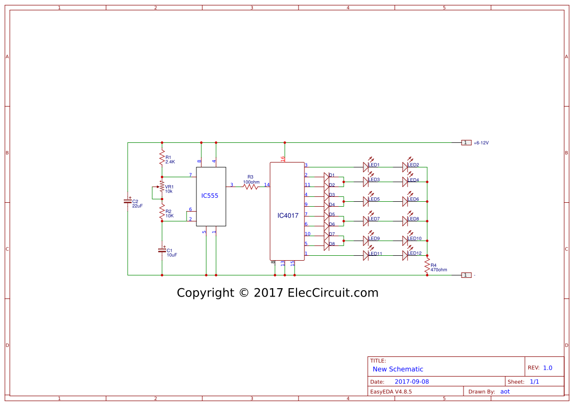 Cd4017 Search Easyeda Led Chaser Circuit Diagram Using Ic 555 And Cd 4017 Two Way 12 Running Lights Ne555