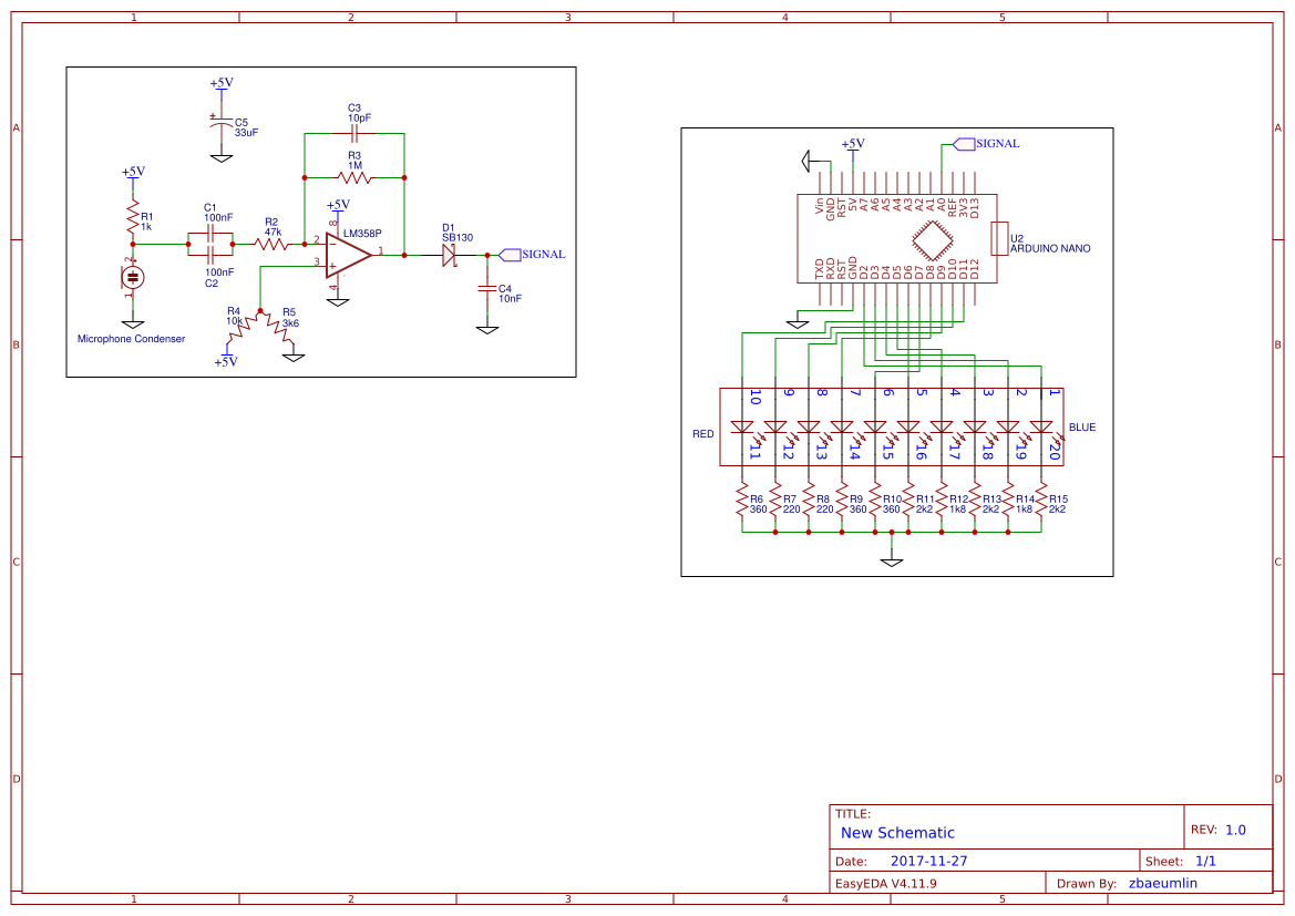 Arduino Microphone Search Easyeda Electret Circuit As Well Sound Sensor Vu Mtre