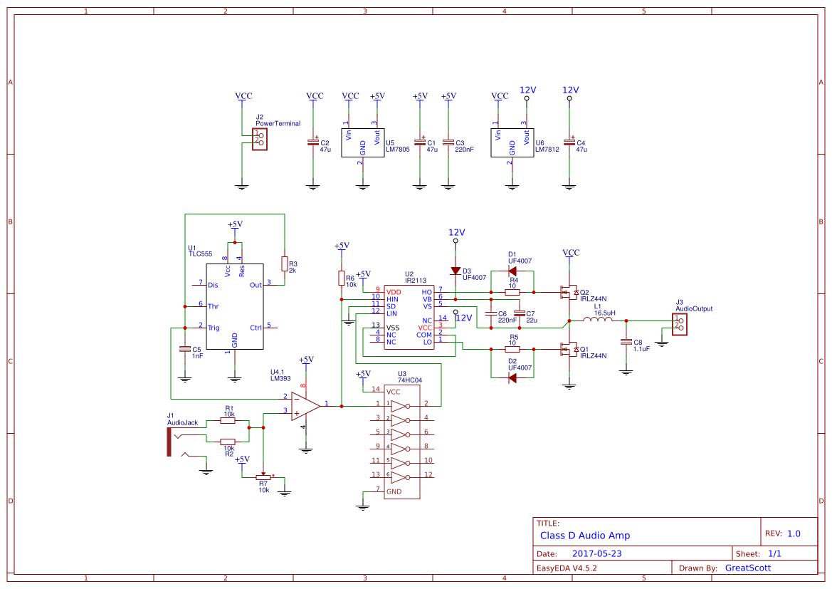 Class D Audio Amp Search Easyeda Amplifier Circuit Diagram