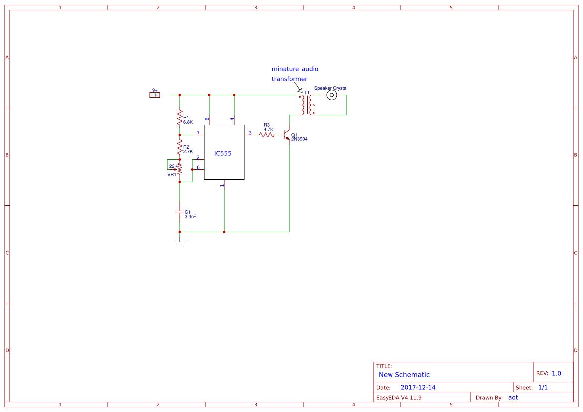 Explore Easyeda Frequency Generator Circuit 555 Tone Timer Audio Alarm Circuits