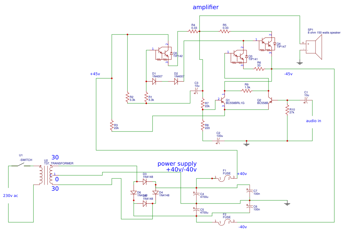 Audio Amplifier Circuit Search Easyeda Using Tda2040 Electronic Circuits And Default Thumb