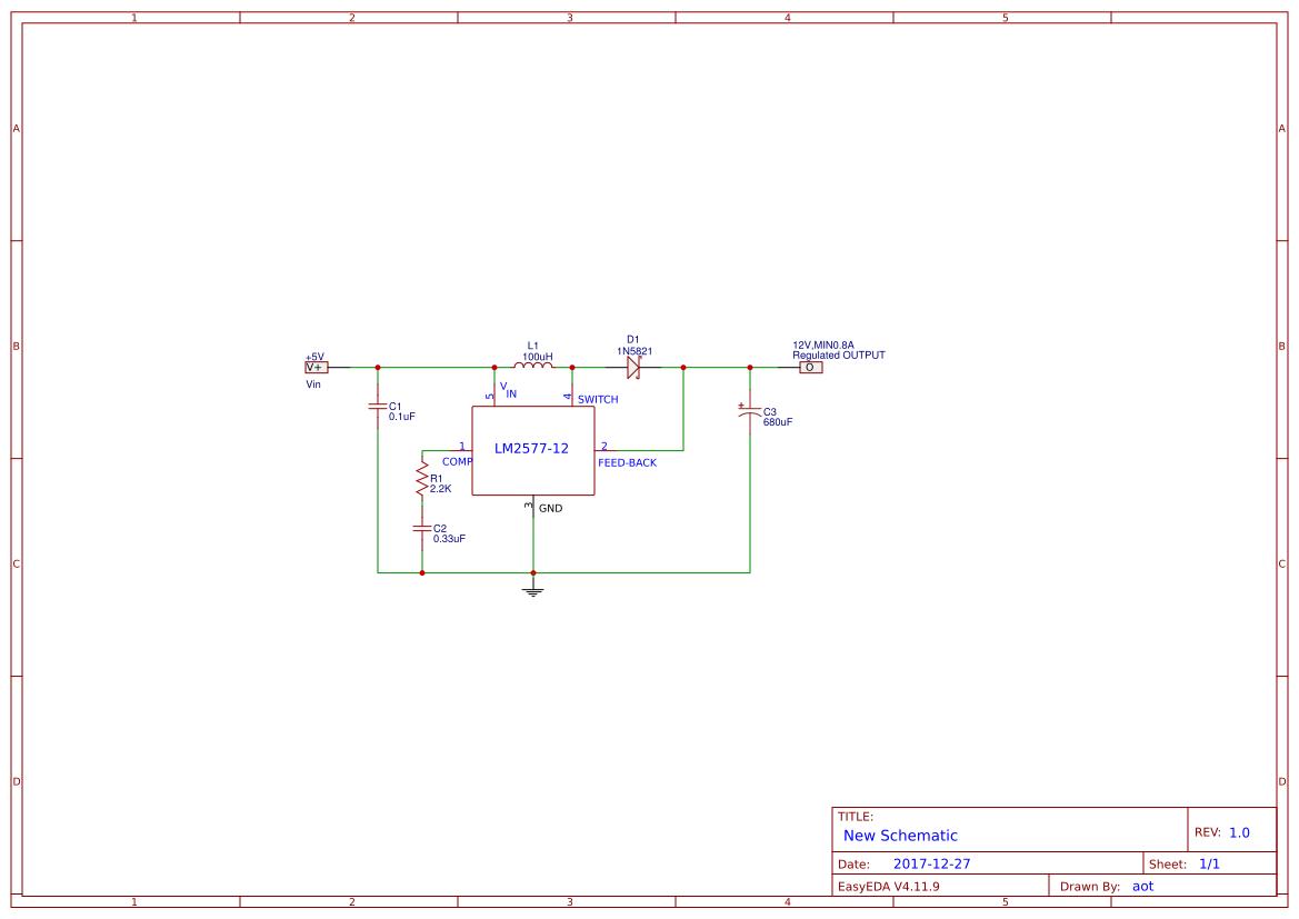 12v To 5v Voltage Converter Search Easyeda Dc Circuit Lm2577 Step Up Regulator