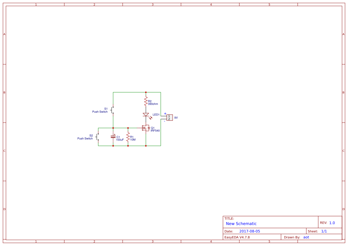 Chayapol Easyeda Mosfet Switch Circuit With Delay Timer Electronic Projects Simple Time Using