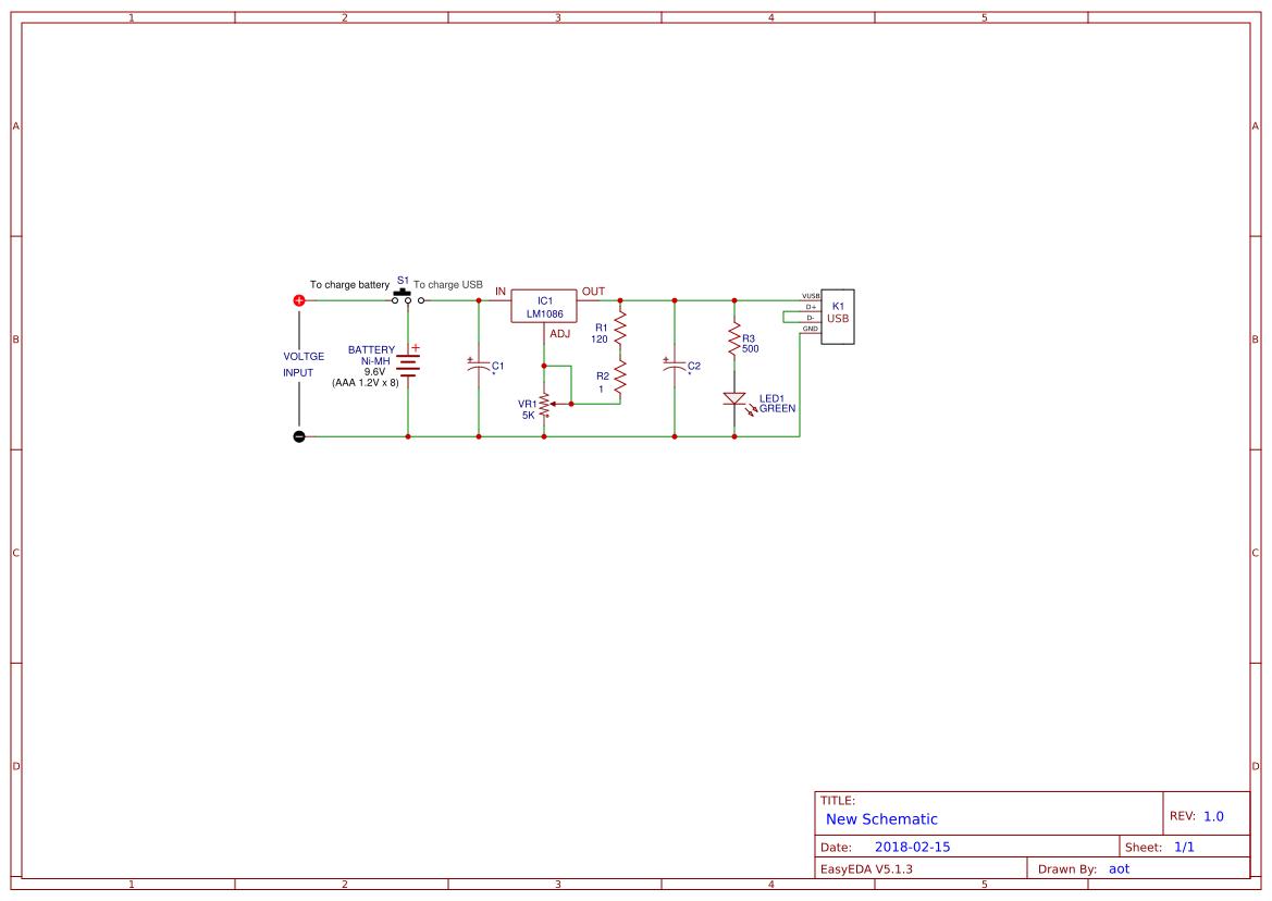 1c4c6c87 Easyeda 5v 3a Switchingregulatorcircuit Powersupplycircuit Circuit Power Bank Mobile Charger Using Lm1086